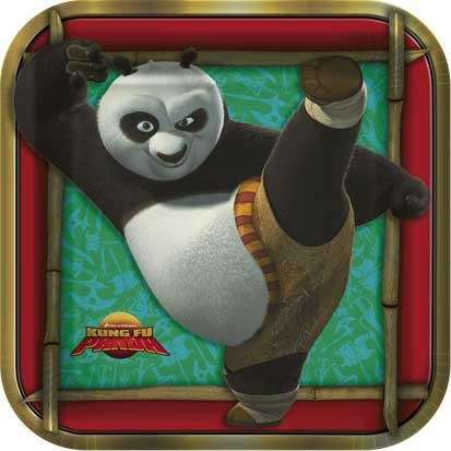 Kung Fu Panda Lunch Plates 8ct - 1