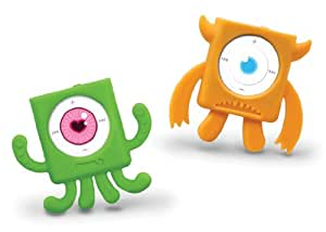 MIX MONSTERS iPod Shuffle 4G Cases - Green-Orange Set of 2