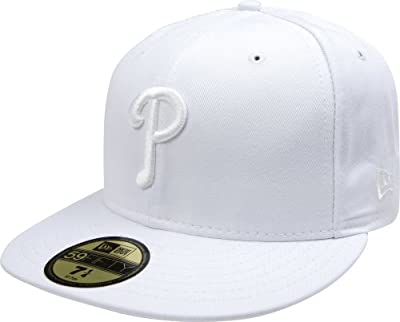 MLB Philadelphia Phillies White on White 59FIFTY Fitted Cap
