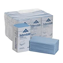"Georgia-Pacific 02350 Interstate Windshield Paper Towel, 1-Ply Single-Fold, 9.5"" Width x 10.25"" Length, Blue (9 Pack of 250)"
