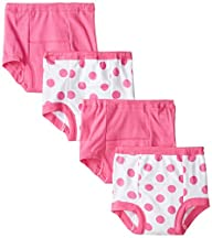 Gerber Baby-Girls Polka Dot 4 Pack Tr…