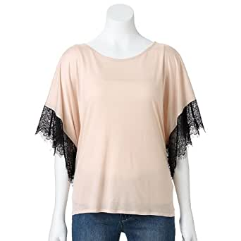 Jennifer Lopez Lace-Trim Poncho Top at Amazon Women's Clothing store
