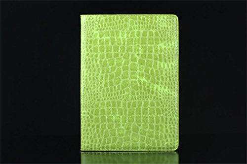 Apple Ipad Air 2 Case Borch Fashion Luxury Crocodile Pattern Leather Multi-Function Protective Leather Light-Weight Folding Flip Smart Case Cover For For Ipad Air 2 (Green)
