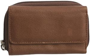 Jost Unisex Adult Chronos 1803 Wallet Eiche/Dark Brown