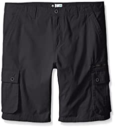LRG Men\'s Big-Tall Research Collection Cargo Short 2, Dark Charcoal, 40