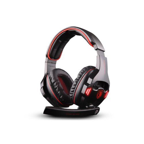 Andget Sades Sa-903 7.1 Surround Sound Headset Usb Headset Gaming Headset With Microphone Black / Red