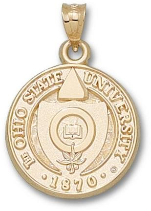 Ohio State Buckeyes Seal Lapel Pin - 14KT Gold Jewelry by Logo Art