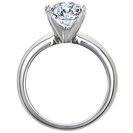 1/4 ct. Round Diamond Solitaire Ring in 14K White Gold – Size 6