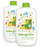 Babyganics Floor Cleaner Concentrate, Fragrance Free, 16oz Bottle (Pack of 2)