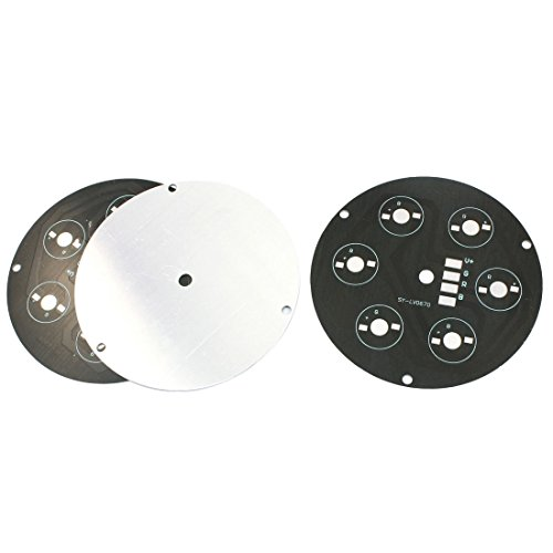 3Pcs Aluminum Pcb Circuit Board 100Mm Dia For 6 X 1W/3W/5W Rgb Leds