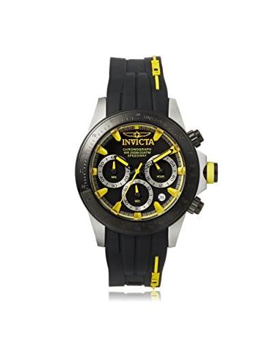 Invicta Men's 17191 Speedway Black/Yellow Silicone Watch