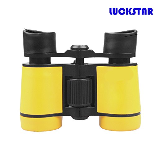 LUCKSTAR(TM) 4X30 Outdoor Plastic Folding Toy Binoculars Telescope Promotional Gift Toy Binoculars Party Favors for Kids-Yellow - 1