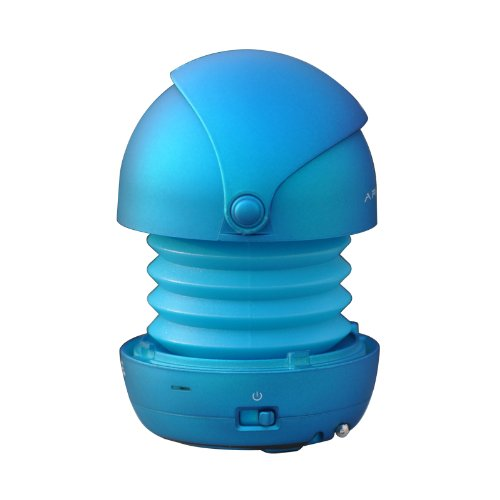 Sonpre Armour Max-N Pop-Up Portable Speaker For Smartphones/Laptops/Ipods/Mp3/Tablets - Blue front-1031415