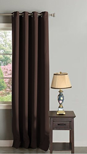 H.Versailtex Thermal Insulated Innovated High Density Microfiber Home  Fashion Blackout Curtains Window Drapes,Grommet Top  Set Of 1 Panel