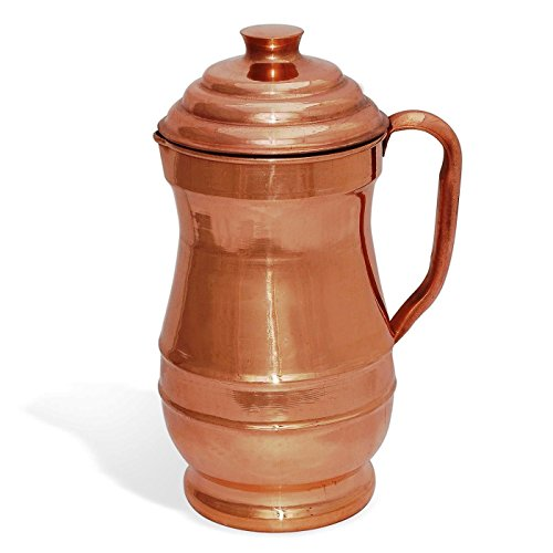 US Shopee LLP - Pure Copper Hammered Water Jug | Copper water Pitcher for Ayurveda Health Benefit (Maharaja Jug) (Solid Water Jug compare prices)