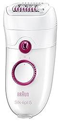 Braun 5-329 Silk Epil 5 Power Epilator with Facial Cleansing Brush & Travel Case