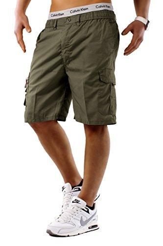 Uomo Shorts Nuovo Freemen ID748, Farben:Khaki;Größe-Shorts:XXXL