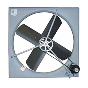 "TPI Corporation CE-48-B Commercial Exhaust Fan, Single Phase, 48"" Diameter, 120 Volt"