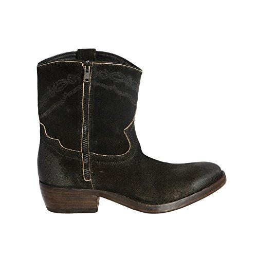 Catarina Martins Women's Alien Black Suede Western Style Boots In Size 37 Black