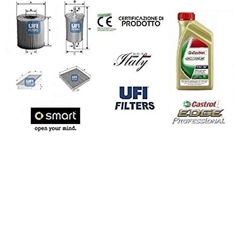 juego-de-4-filtros-hoja-ufi-smart-fortwo-cdi-451-08-33-40-4-kw-lt-aceites-castrol-5w30-magnatec