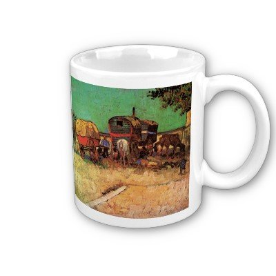 Encampment Of Gypsies With Caravans By Vincent Van Gogh Coffee Cup