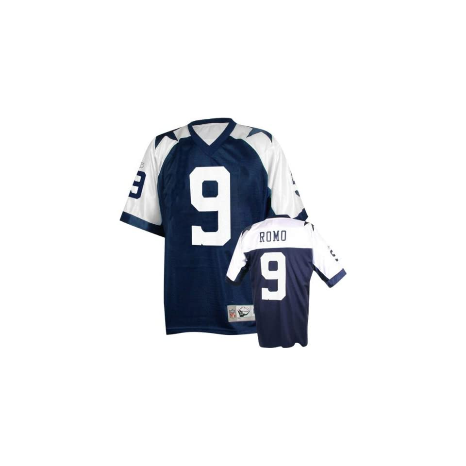 b0c71f67159 Mens Dallas Cowboys #9 Tony Romo Throwback Replica Jersey on PopScreen