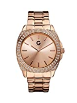 G by GUESS Oversized Glitz Rose Gold Watch
