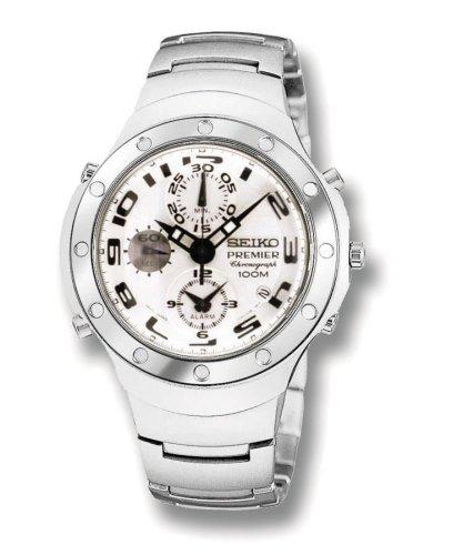 Seiko SDWG45 Men s Stainless Steel Premier Chronograph Silver DialB0000VACM0