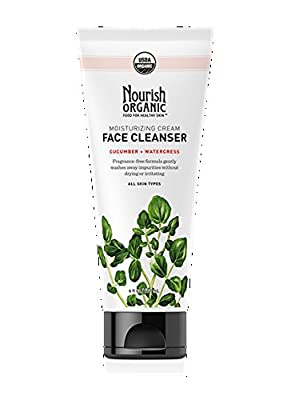 Nourish Organic Moisturizing Face Cleanser, Cucumber & Watercress, 6 Fluid Ounce