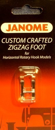 Janome Custom Crafted ZigZag Foot for Horizontal Rotary Hook Models (Janome Zigzag Foot compare prices)