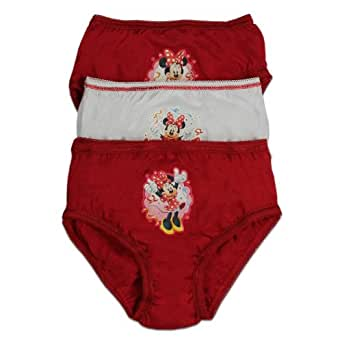Minnie Mouse Culotte | Red 3 Pack Sous-Vêtements | Age 5 to 6 Ans