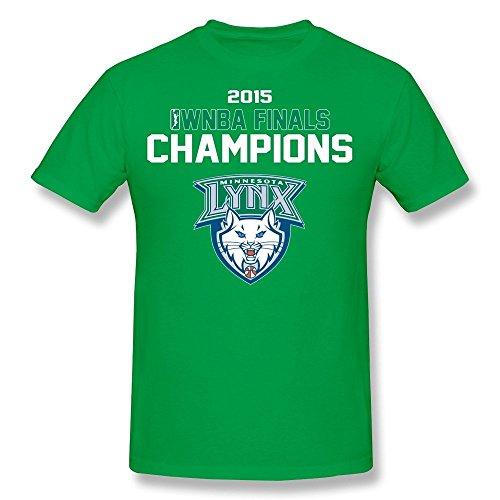 LOOIN Men's Minnesota Lynx 2015 WNBA Finals Champions T-Shirt L (Lil Lynx compare prices)