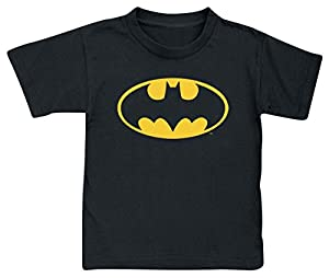 Batman Logo Camiseta de Niño/a Negro
