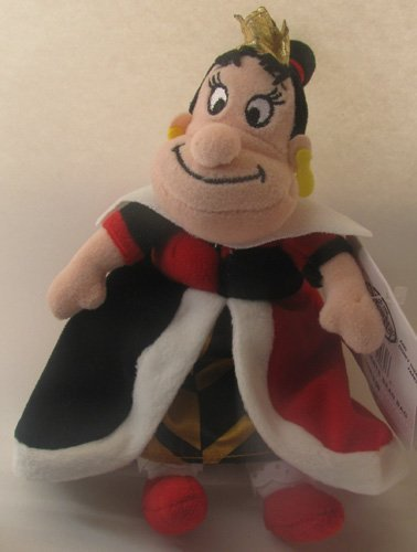 Disney Bean Bag Plush Alice in Wonderland Queen of Hearts 8""