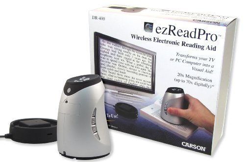 Carson Optical Ezreadpro Wireless Reading Aide (Silver)