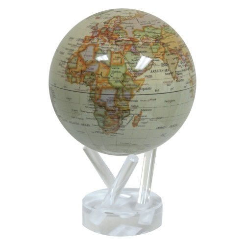 Mova Globes Mova Rotating Antiqued Gloss Finish 4.5 In. Diam. Globe, Other Colors