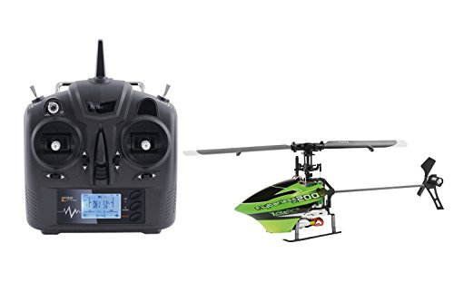 14002100 Ferngesteuerter RC Hubschrauber Flybarless 200 3D RTF 2.4 GHz mit 6Si 6 Kanal Sender, grün/schwarz