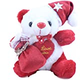 Tickles Red Christmas Santa Claus Teddy Stuffed Soft Plush Toy For Kids 17 Cm