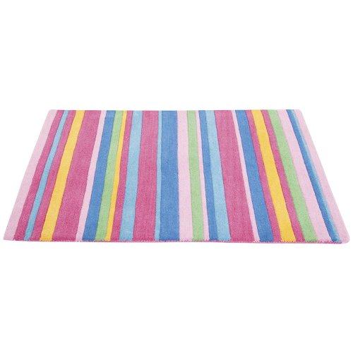 JoJo Maman Bebe Rug, Pink Stripe, X-Large