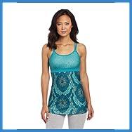 prAna Women's Kaley Tunic Top, Small, Capri Blue Scallop