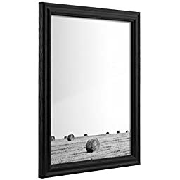 Craig Frames 200ASHBK 12 by 16-Inch Picture Frame, Wood Grain Finish, .75-Inch Wide, Black