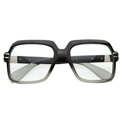 zeroUV - Old School Vintage Squared Clear Lens Eyeglasses