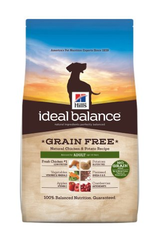 Hills Ideal Balance Grain Free Chicken and Potato Recipe Adult Dogs Dry Food Bag, 21-Pound