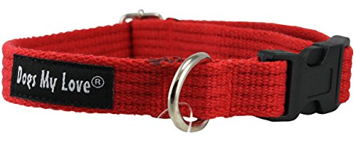 organic-cotton-web-adjustable-dog-collar-4-sizes-red-small-neck-115-155-width-1-2