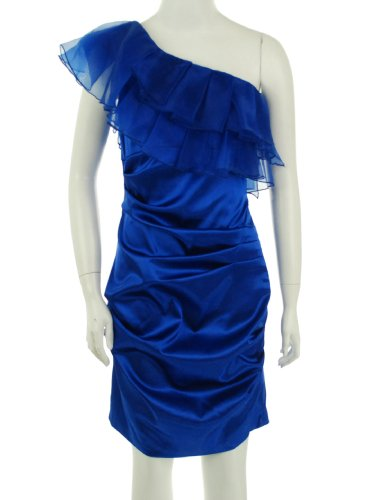 B Darlin Drop Shoulder Dress Sapphire 7/8
