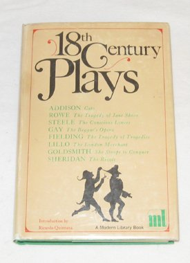Image for 18th Century Plays (Modern Library, 224.1)
