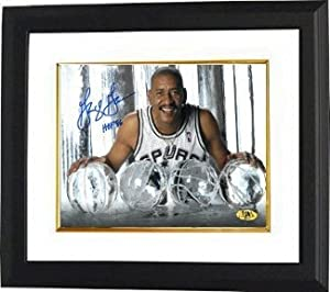 George Gervin Autographed Hand Signed San Antonio Spurs ICE 16X20 Photo HOF 96 Custom... by Hall of Fame Memorabilia