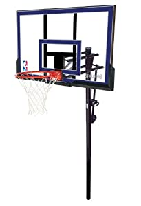 Buy Spalding 50-Inch In-Ground Basketball System with Acrylic Backboard by Spalding