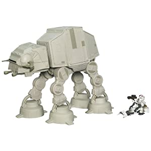 Star Wars Galactic Heroes AT-AT Walker with Speeder Bike and AT-AT Driver with Electronic Lights and Sounds