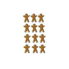 Artemio - Tachuelas en forma de galleta de jengibre (20 unidades), color marrón